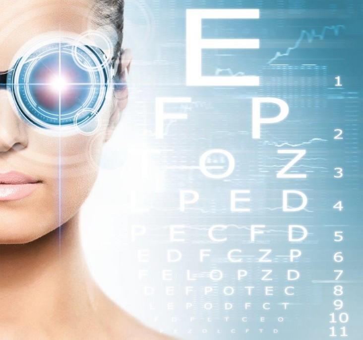 אופטומטריסט - תמונת רקע של בדיקת ראיה